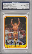 Hulk Hogan 1991 Merlin WWF #36 autograph auto card PSA COA