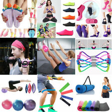 Exercise Fitness Yoga Mat Gym Ball Tension Band Pilates Sport Auxiliary Tools US
