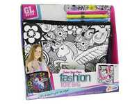 Girls Colour Your Own UNICORN Flower Fashion Tote Makeup Bag Handbag Kit 168057