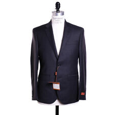 New Baroni Prive Suit Size 36 S Charcoal Gray Super 150s Wool