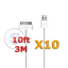 10X 10FT 3 METER 2.0 USB CHARGING DATA TRANSFER CABLE FOR APPLE iPHONE 4S iPOD