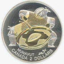 Canada $2 1999 NANAVUT DRUM DANCER Bimetal gold/silver ANACS-PF68 Heavy Cameo