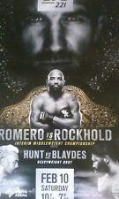 UFC 221 Poster - New - 18x24 Romero vs Rockhold  Hunt vs Blaydes 2/10/18