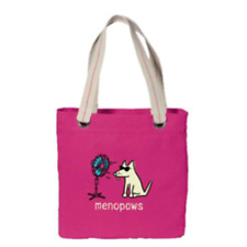 Teddy The Dog Tote Bag - Menopaws!  Support Dog Rescue