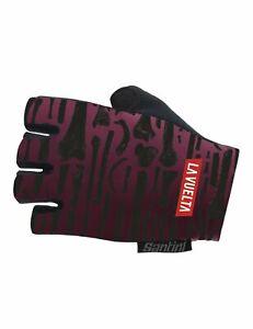2018 La Vuelta Huesera Summer Cycling Gloves - Made in Italy by Santini