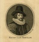 Antique Print-PORTRAIT-FRANCIS BACON-PHILOSOPHER-STATESMAN-Chambars-1757-1758