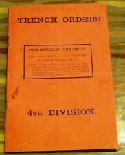 Trench Orders Book - Replica - World War 1 - Army Orders Book - School - History