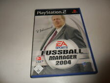 PlayStation 2  PS 2  Fussball Manager 2004