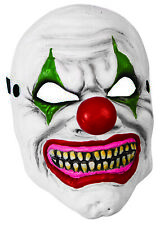 Deluxe Foam Carved Horror Scary Clown Jester Mask Halloween Costume Accessory