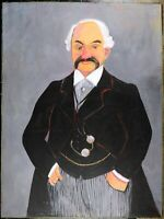 Stretched Reproduction Oil Painting On Canvas, J.P.Morgan Portrait, Unsigned