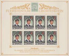 Bloc feuillet 1987 LIECHTENSTEIN N°862** petite feuille de 8 timbres , Sheet MNH