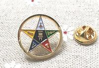 Order of the Eastern Star Lapel Pin Regalia- Masonic Appendant Body- Free Ship
