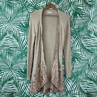 Anthropologie Fiets Voor 2 Floral Weave Cardigan Women's Size Medium