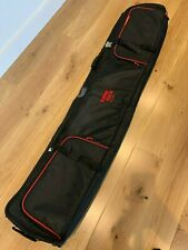 New listing Snow And Rock Snowboard Wheeled Travel 175cm Water Proof Roller Bag, Black & Red