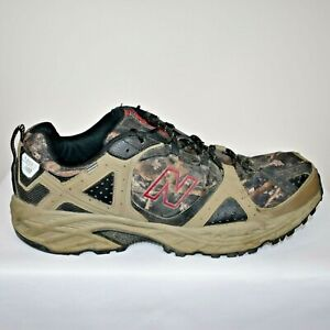 New Balance All Terrain MT481GO Trail Running Shoes Camo Print Mens Size 14 GUC