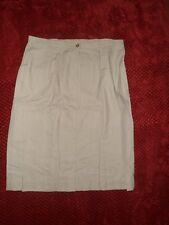 """Handmade Bespoke A-Line light Beige Skirt 32"""" waist 25"""" long"""
