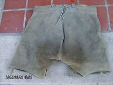 "pr vintage men's German lederhosen leather shorts 26"" waist"