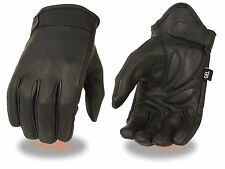 Milwaukee Leather Men's Cruiser Motorcycle Riding Glove w/ Stretch & Gel Palm