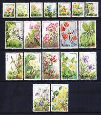 KENYA 1983 SG257/71 set of 20 Flowers fine used (80c issued 1985 missing) cat£45