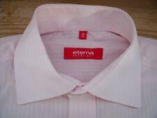 TA3451 Eterna MODERN FIT Businesshemd kurzarm 38 Rosa Weiß gekürzt gestreift Seh
