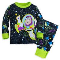 Disney Store Pixar Fest Toy Story Buzz Lightyear PJ Pals Pajamas 0 3 6 9 12 M