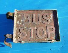 VINTAGE 1950s BRITISH BUS STOP SIGN-ORIG.PRE-WAR? ROUTEMASTER/DENNIS/GUY/LEYLAND