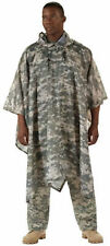 US Army Military Marines USMC ACU Digital Camo Rain Coat Camping Poncho Shelter