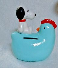 Vintage Peanuts Snoopy on Chicken Bank United Feature Syndicate 1958 1966