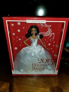 Barbie Collector 2013 Holiday Doll African-American AA NRFB White Dress