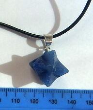 Bleu Sodalite Argent Merkaba Pendentif Cristal Guérison Reiki gemstone Jewellery