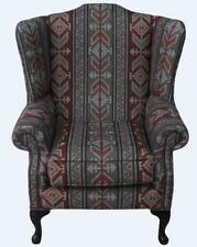 Chesterfield Mallory Queen Anne Flat Wing High Back Tribal Bohemian Fabric
