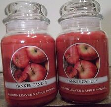 Yankee Candle  Autumn Leaves & Apple Picking    22 oz.Lot of 2 NEW   Free Ship