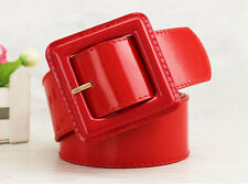 Women Patent Leather Wide Waist Belt Leather Fashion belts  A001