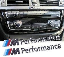 M Performance Emblem Aufkleber Alu Sticker BMW Interior Radio decals M Logo 2x