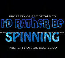 VRS ID RATHER BE CYCLING SPINNING Bike Indoor Hot Gym Spin CAR METAL DECAL