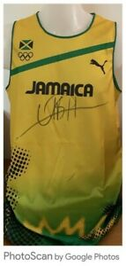 Usain Bold Signed Vest Superb (One Extra Pen Stroke To Body) Bidding From £175