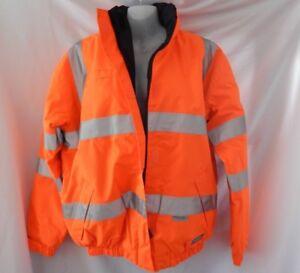 HUSKI Hi-VIS Reversible Safety Jacket & Hood -Waterproof -3M -Day/Night M-NEW