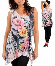 M04 2X (18/20) Floral Print,Stretch,Sleeveless Blouse