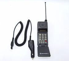 Vintage Motorola GTE Keypad Numberpad Cellular Phone Cellphone & Car Charger