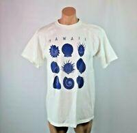 VTG 90s NWOT HAWAII shell graphic T-shirt Vacation Tourist Sz L USA MADE