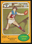 1973 B Scanlens No. 42 Warwick Irwin Fitzroy Lions Near MINT to Mint Card r