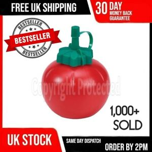 RETRO TOMATO SAUCE BOTTLE ROUND RED SHAPED PLASTIC KETCHUP SQUEEZY DISPENSER UK