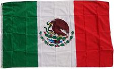 XXL Flagge Mexiko 250 x 150 cm mit 3 Metall Ösen zum Hissen Hissflagge Fahne