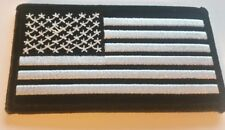"""US FLAG Patch Black and White  3.5"""" x 2"""" Brand New!!"""