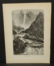 Picturesque Europe Italy Falls of Terni Engraving 1885 !i4#25