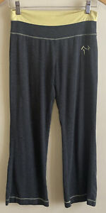 Green Apple bamboo blend super soft gray wide waist band crop pants size S