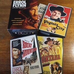 Errol Flynn Warner Bros Western Collection DVD Region 1 USA Release 4 Movies