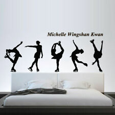 Wall Decal Figure Skating Skater Skates Sport Ice Michelle Competition M1358