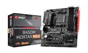 MSI B450M MORTAR MAX mATX Motherboard for AMD AM4 CPUs