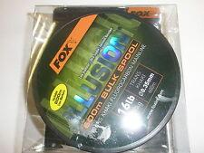 Fox Illusion Trans Khaki Flourocarbon Mainline 16lb 0.35mm 600m Carp fishing
